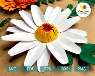 Daisy SVG Paper Flower Template