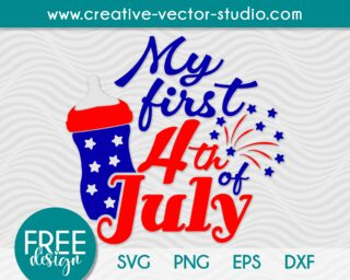 Free My First 4th of July SVG