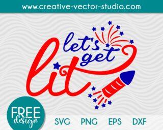 Free Let's Get Lit SVG