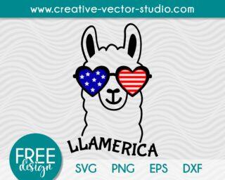 free patriotic llama svg