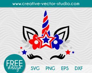 patriotic-unicorn-face-svg