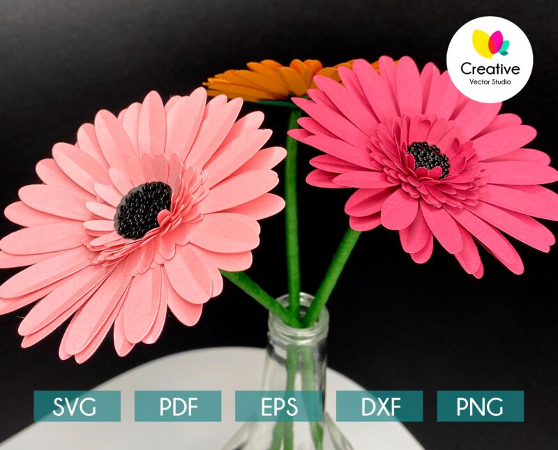 Gerbera paper bouquet