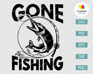 Gone Fishing Pike SVG