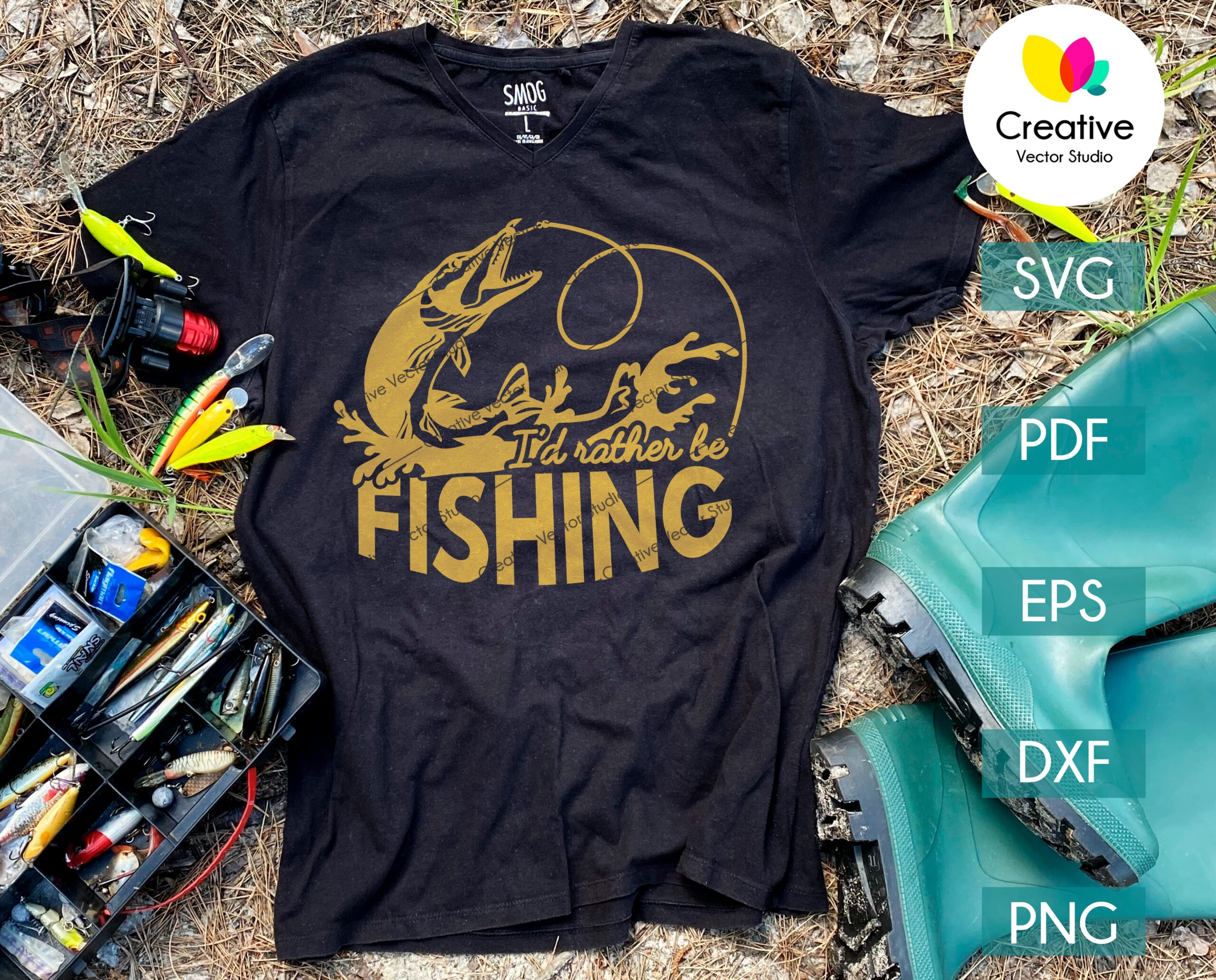 Download I D Rather Be Fishing Pike Svg Creative Vector Studio
