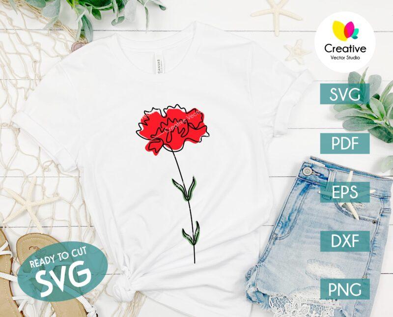 One Line Flower shirt