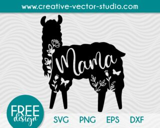 mama-llama-free-svg