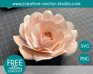 free giant paper rose template