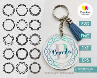 Mandala Keychain SVG Bundle