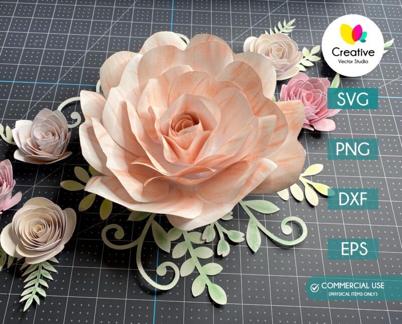 Rose Flower Template