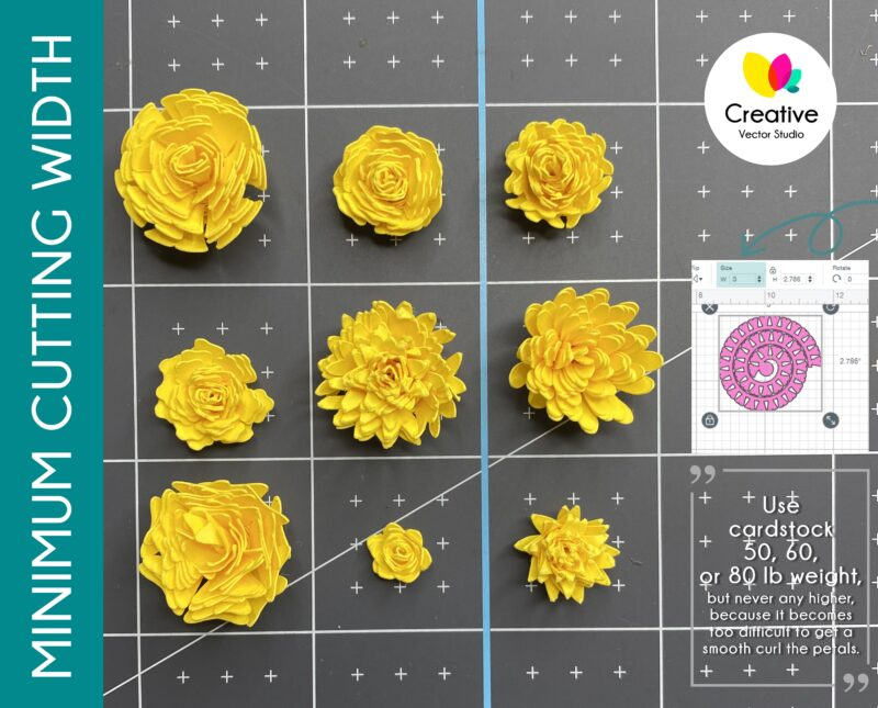 small rolled flower svg