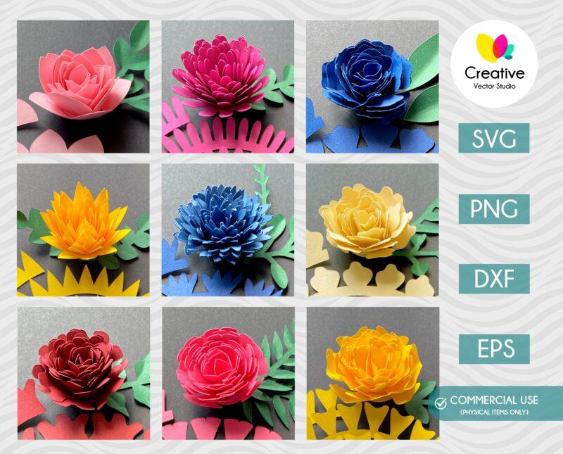 3D Flower SVG