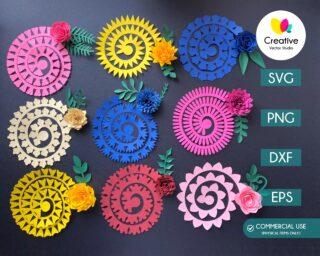 Rolled Flower SVG Bundle