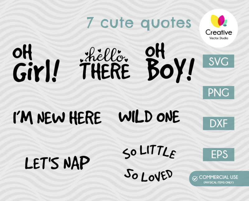 baby quotes svg