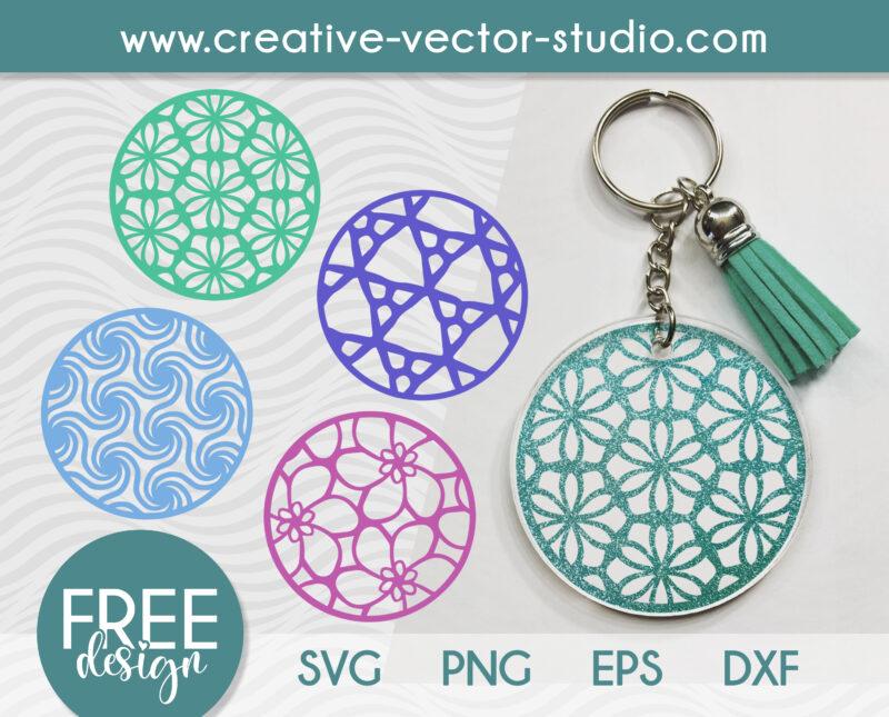 Free Keychain Round Patterns
