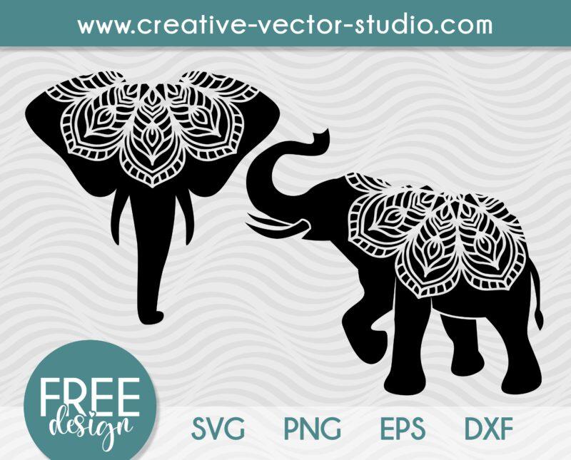 Free Mandala Elephant SVG