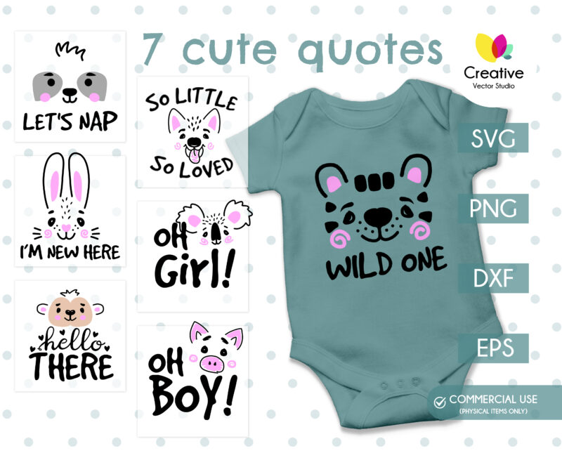 Cute Baby SVG Quotes