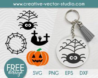 Free Halloween Keychain SVG