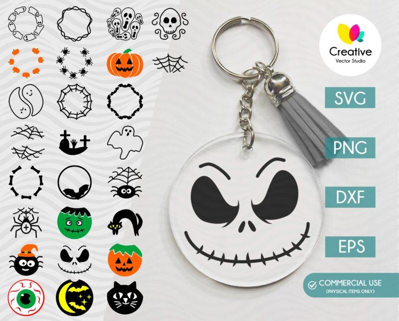 Halloween Keychain SVG Bundle