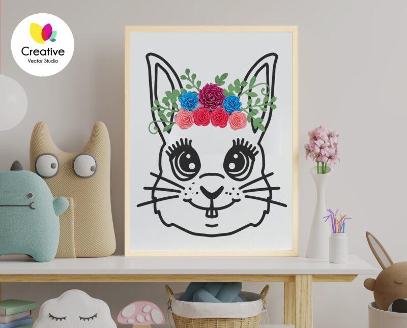Rolled Flower Frame SVG
