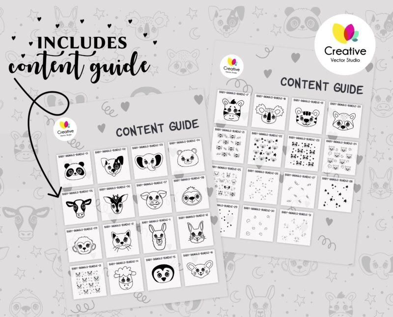 31 Animal Faces SVG Bundle