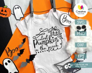 Cutest Pumpkin SVG Baby Onesie Design