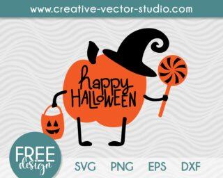Free Happy Halloween Pumpkin SVG