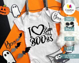 I Love Boobs SVG baby onesie design
