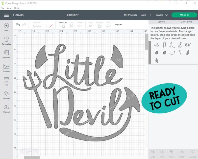 Little Devil SVG cut file