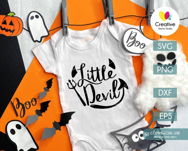 Little Devil SVG Halloween Onesie
