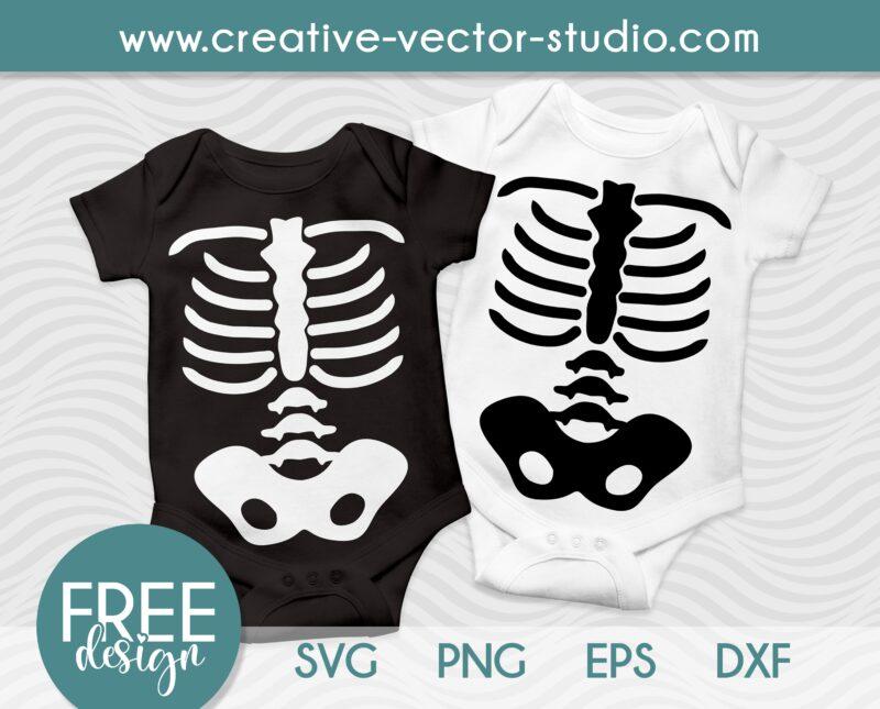 Free Halloween Skeleton SVG