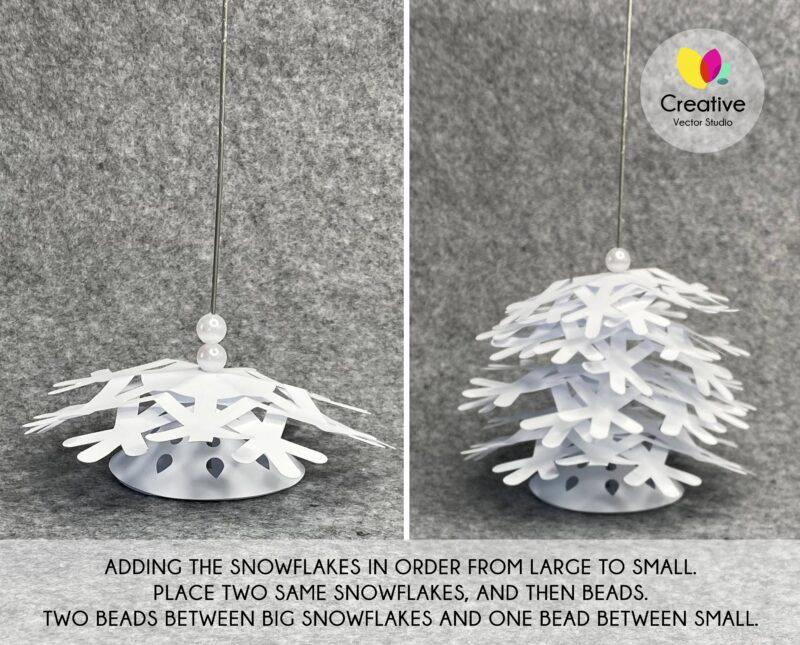 3D Paper Christmas Tree SVG