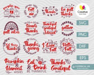 Thanksgiving Quotes SVG Bundle