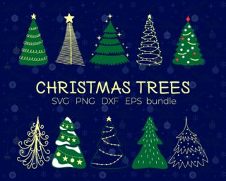 Christmas Trees SVG Bundle